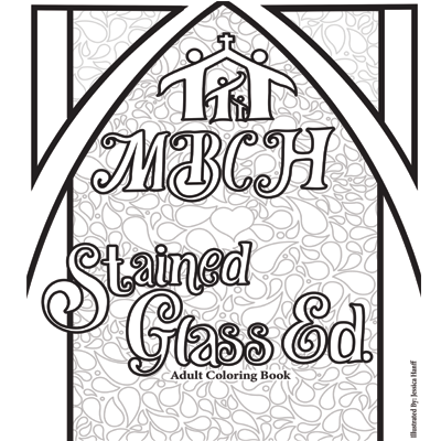 Adult Coloring Book - Stained Glass Edition Thumb