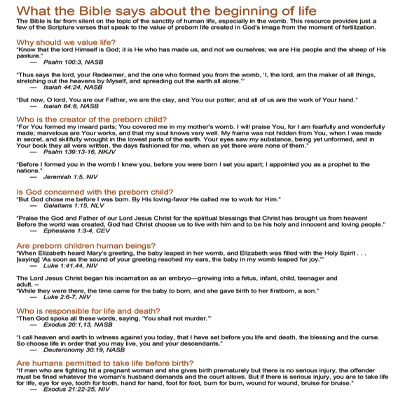 What the Bible says about Life
